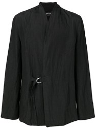 Andrea Ya'aqov Buckled Lightweight Jacket Black
