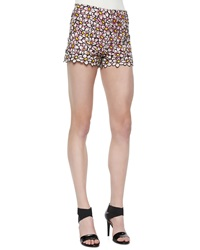 Red Valentino Daisy Embroidered Shorts Light Pink