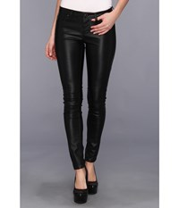 Blank Nyc The Spray On Vegan Leather Skinny In Blacked Out Blacked Out Women's Casual Pants