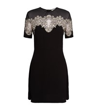 Sandro Kyra Lace Insert Dress Female Black