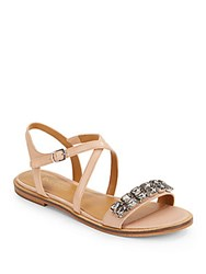 Enzo Angiolini Jewelana Flat Sandals Teal