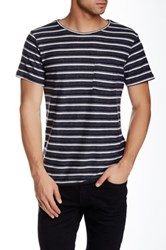 Native Youth Striped Tee Gray