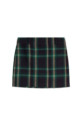Polo Ralph Lauren Wool Alpaca Tartan Skirt Green