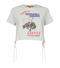 Hilfiger Collection Cowgirl Print Crop T Shirt Female Grey