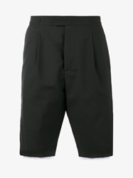 Raf Simons Printed Layered Shorts Black