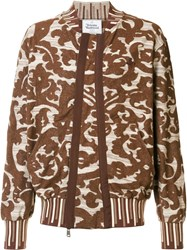Vivienne Westwood Man Patterned Sweatshirt Brown