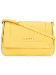 Orciani Classic Shoulder Bag Women Leather One Size Yellow Orange