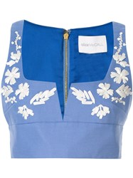 Alice Mccall Pastime Paradise Cropped Top Blue
