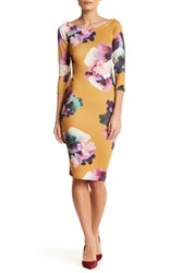 Blvd Floral Sheath Dress White