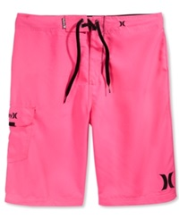 Hurley One And Only 22' Board Shorts Neon Pink
