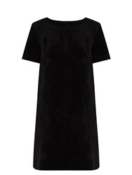 Velvet By Graham And Spencer Reya Faux Suede Dress Black