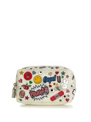 Anya Hindmarch All Over Stickers Rubber Make Up Bag Multi