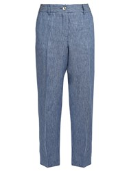 Max Mara Bibilios Trousers Blue Stripe