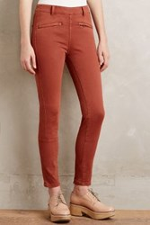 Anthropologie Pilcro Superscript Side Zip Leggings Bronze 31 Petite Leggings