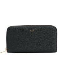 Tom Ford Logo Zip Around Wallet Black