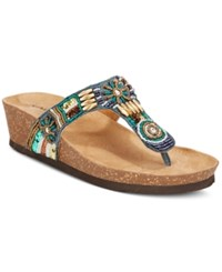 Rialto Breeze Beaded Wedge Sandals Women's Shoes