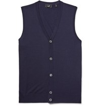 Dunhill Wool Sweater Vest Navy