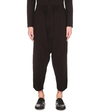Yohji Yamamoto Dropped Crotch Cotton Trousers Khaki Navy Black