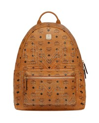 Mcm Stark Gunta Medium Studded Backpack Brown