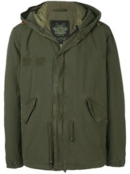 Mr And Mrs Italy Customisable Midi Parka With Patches Green