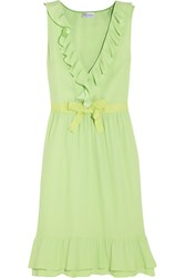 Red Valentino Ruffle Trimmed Georgette Dress