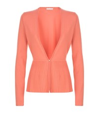 Boss Womenswear Fily Ribbed Peplum Cardigan Female Pink