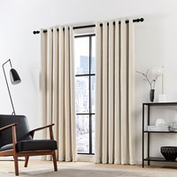 Dkny Madison Lined Curtains Ecru Cream