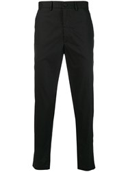 Mcq By Alexander Mcqueen Swallow Patch Chinos Black
