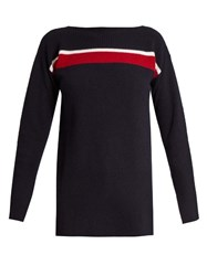 Marni Contrasting Wool Sweater Blue Multi