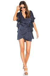 Sir The Label Bobbie Wrap Dress Navy