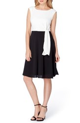 Tahari Women's Side Tie Fit And Flare Dress