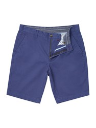 Linea Brompton Chino Shorts Mid Blue