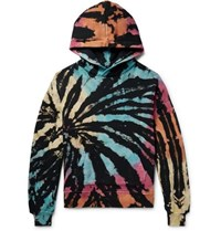 Amiri Oversized Tie Dyed Loopback Cotton Jersey Hoodie Multi