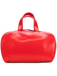 Comme Des Garcons Girl Bowling Tote Pvc Red