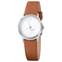 Mondaine Mh1.L1110.Lg Unisex Helvetica Leather Strap Watch Brown