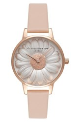 Olivia Burton Women's Flower Show Leather Strap Watch 30Mm