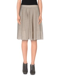 Soallure Skirts Knee Length Skirts Women Grey