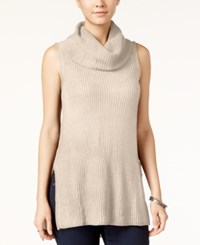 Ultra Flirt Juniors' Sleeveless Cowl Neck Tunic Oatmeal Heather
