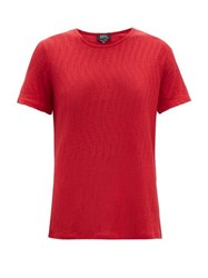 A.P.C. Ball Pointelle T Shirt Red