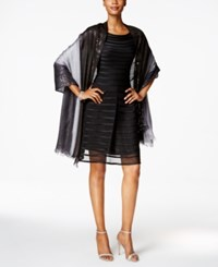 Echo Ombre Sequined Wrap Black