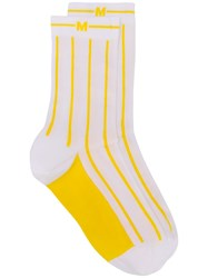 Msgm Striped Socks White