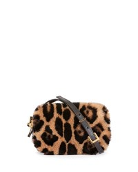 Tom Ford Leopard Print Fur Cosmetic Case W Crossbody Strap