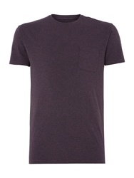 Linea Austin Short Sleeve Crew Neck Pocket T Shirt Purple