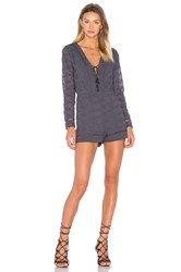 House Of Harlow X Revolve Mila Long Sleeve Romper Navy