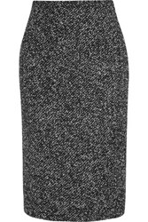 Michael Kors Collection Wool Blend Boucle Pencil Skirt Charcoal