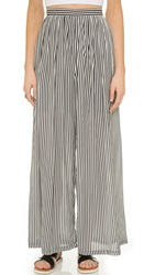 Glamorous Stripe Pants Black White