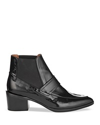 Whistles Booties Riley Loafer Pointed Toe Black