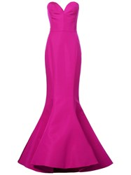 Christian Siriano Sweetheart Neck Gown Pink And Purple