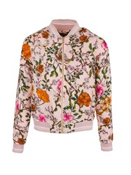 Morgan Zip Front Floral Patterned Jacket Multi Coloured
