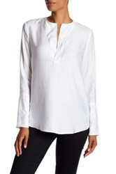 James Perse Sanded Satin Tunic Blouse White